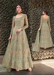 Abaya Style Net Anarkali Suits
