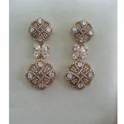 Silver with Cubic Zirconia Earring