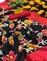 Ligalz Present for Women's Flower Printed Bhagalpuri Saree With Blouse Piece