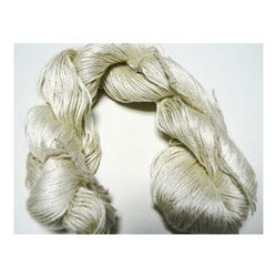 Bleached White Degummed Mulberry Reeled Plied Silk Yarn, For Knitting