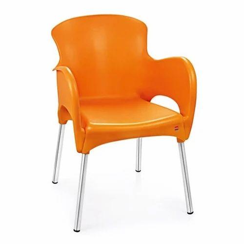 Cello Orange Xylo Plastic Chair