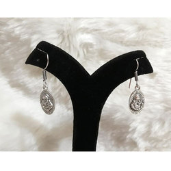 Oxidized German Silver Earrings