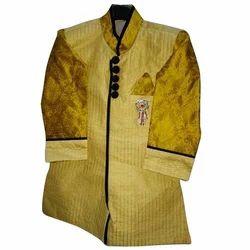 Wedding Wear Yellow Kid Sherwani
