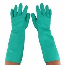 Nitrile Kanvee Green Safety Gloves