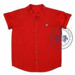 Red Party Wear Kids Stylish Shirt