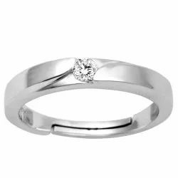 SR02733 925 Sterling Silver Solitaire Wedding Ring