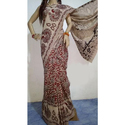 Casual Wear Kalamkari Print Cotton Printed Kalamkari Saree, 6.3 M (with Blouse Piece)