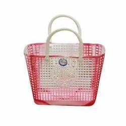 Red Mohini Plastic Basket( Mohini 777)