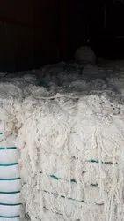 Natural White Cotton Yarn Hard Waste
