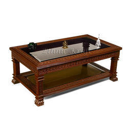 Carved Teakwood Center Table