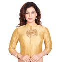 Silk Embroidered 3/4th Sleeve Designer Blouse