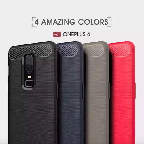 reputable site 417ef e327e Oneplus 6 Cover Case Carbon Fiber Silicone Tpu Hot Seller