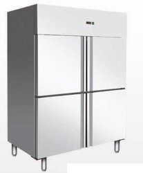 Silver Four Door Commercial Refrigerator