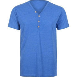 Cotton Large Mens V Neck T-shirt