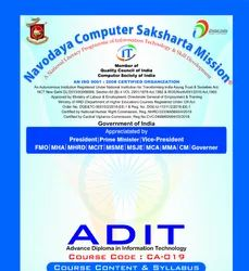 Advance Diploma In Information Technology (A.D.I.T.)