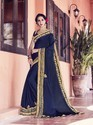 Satin Chiffon Fancy Bordered Saree