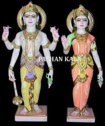 Antique Marble Laxmi Vishnu Idols