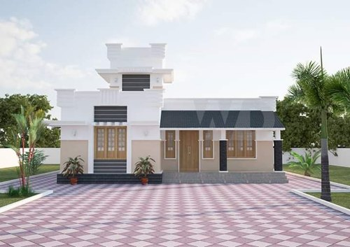 Residential Ground Floor Land With House Simplex, Area Of