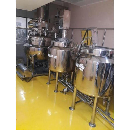 Stainless Steel Ointment Manufacturing Vessel