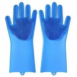 Full Finger Unisex Silicon Gloves, Size: Free Size, for HOME