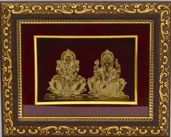 a33ca6333e7 Golden (Gold Plated) Gold Plated Gemstone Ganesha God Frame