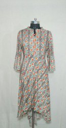 Casual Wear Stitched Ladies Casual Printed Cotton Kurti