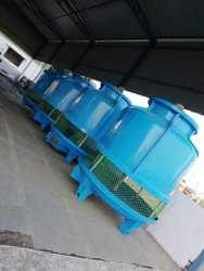 Geopure Frp Round Type Cooling Towers, For Industrial, Cooling Capacity: 10 - 500 Tr