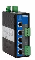 5-Port Managed Industrial Ethernet Switch with 2 3IN1 Serial Ports.