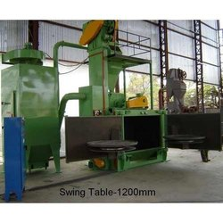Swing Table Shot Blasting Machine