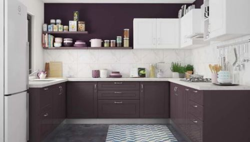 Violet Starling U Shaped Kitchen Design Services Orange Gubbi