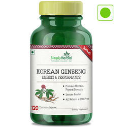 Korean Ginseng Capsules, Packaging Type: Plastic Container