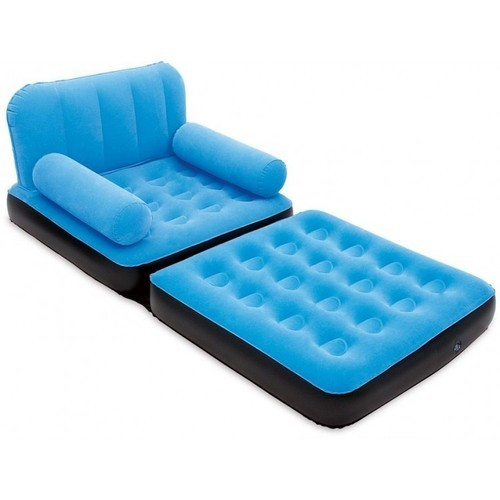 1 Seater Blue Velvet Air Sofa Cum Bed at Rs 4199 piece Air Sofa