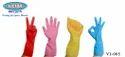 Blue Unisex Flock Lined Household Gloves