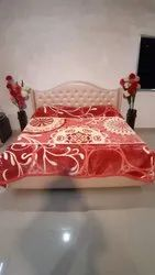 Double Bed Platinum Red Blankets