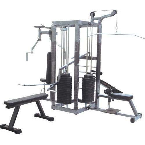 Home Gym Station With 2 Weight Stack