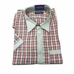 Valji & Mafatlal Cotton School Uniform Half Sleeve Shirt, Size: 22-44