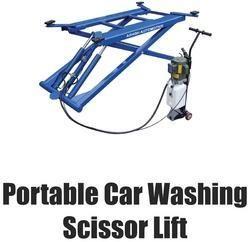Portable Car Washing Scissor Lift - Ashish Automotive, Delhi | ID