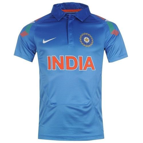 Sky Blue Polyster Indian Cricket Team Jersey Id 19752072491