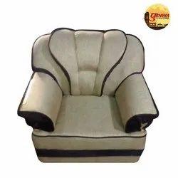 Plain Cream Single Seater Sofa Set