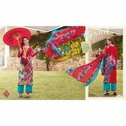 Ladies Cotton Full Sleeve Designer Printed Suit