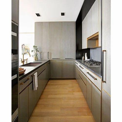 PVC And Wooden U Shape U Shaped Island Kitchen, Rs 900