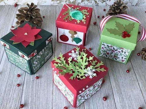 Christmas Boxes.Explosion Boxes Christmas