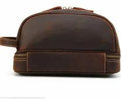 BB03 Cow Hunter Leather Trendy Toiletry Bag
