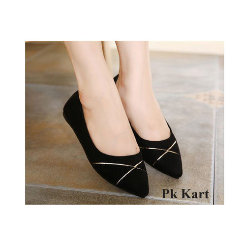 Women Black Flats Belly at Rs 225/pair