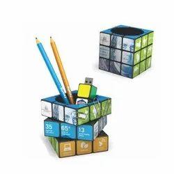 GX-IDT-108 Rubiks Cube Pen Pot