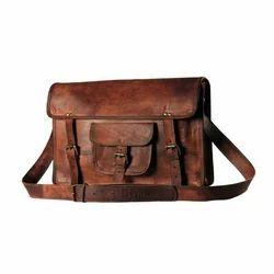 Brown Vintage Leather Messenger Bag