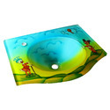 Glass Wash Basin Cartoon Design