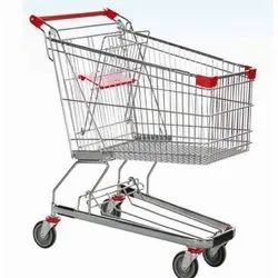 Nandi Technology Four-Wheel Stainless Steel Shopping Trolley
