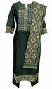 Lavanya Bottle Green Chanderi Suit Ot Design Dupatta