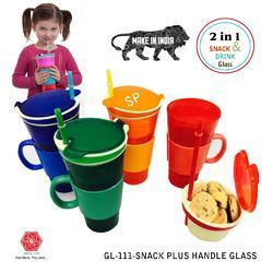 Snackeez Travel Cup in One Container-2 in 1 Snack & Drink -GL-111